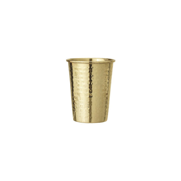 Brass Hammered Cup