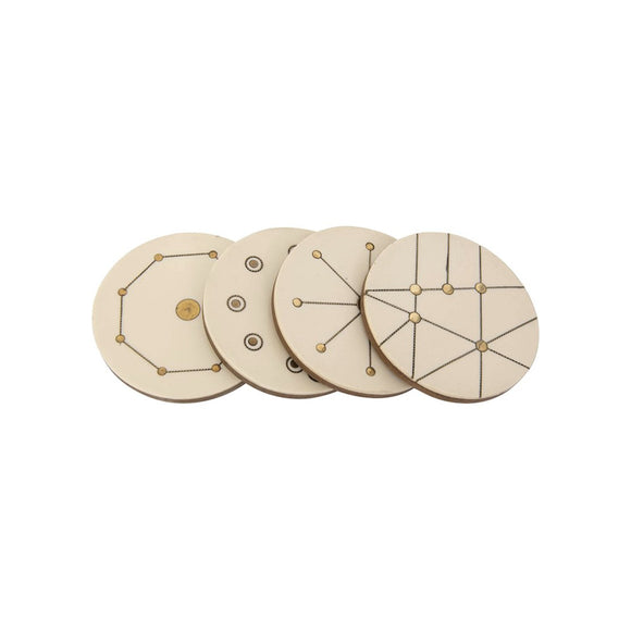 Wood & Brass Coasters