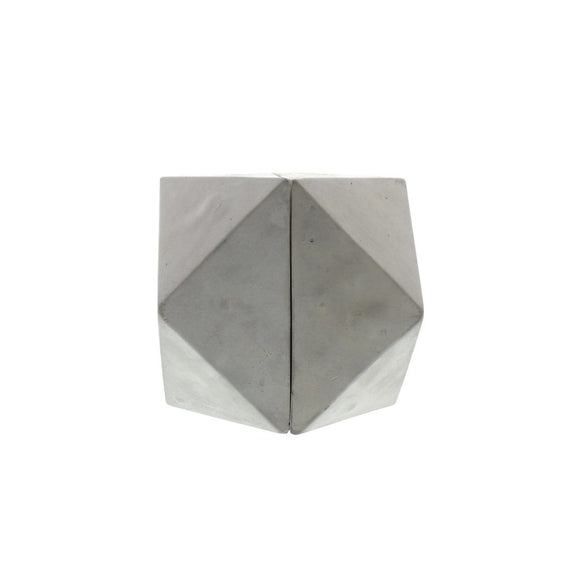 Geometric Cement Bookends (Set of 2)