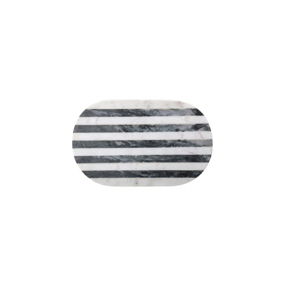 Black & White Marble Oval Cutting Board
