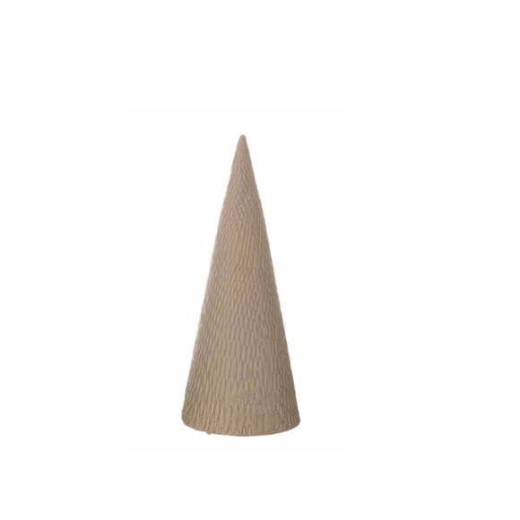 Matte Grey Stoneware Cone Tree