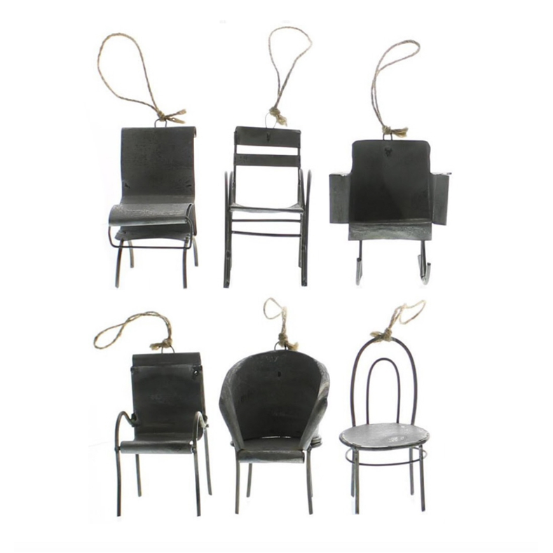 Zinc Chair Ornaments