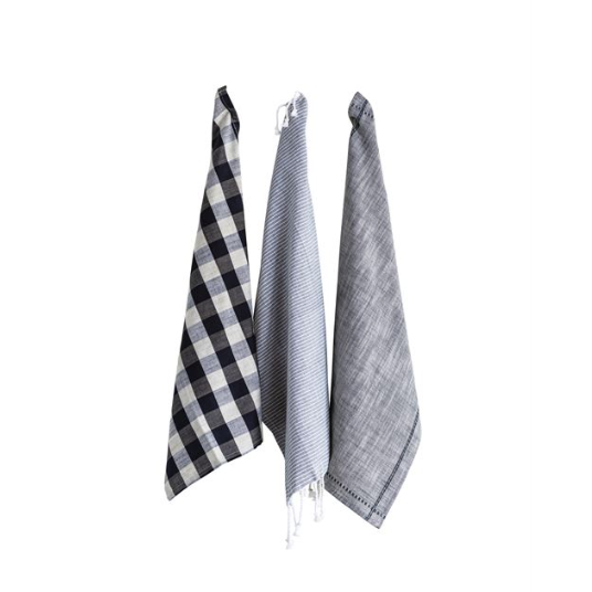 Grey Cotton Tea Towels