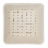 Square Embossed Stoneware Dish/Bowl