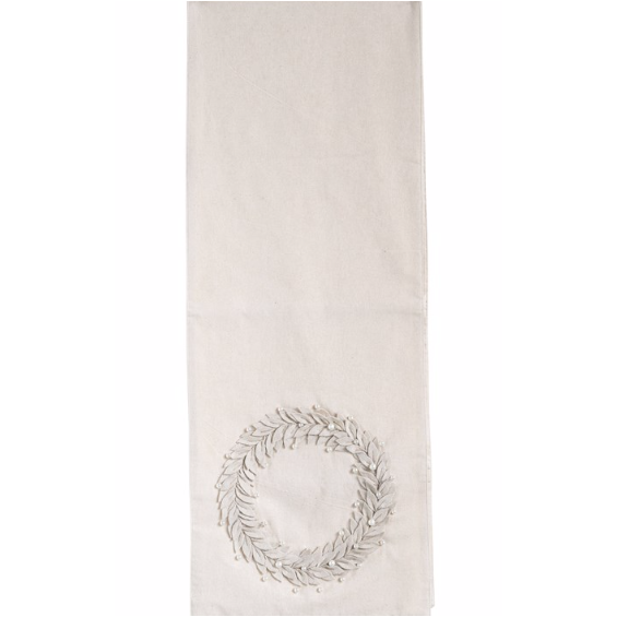 Cream Cotton Table Runner