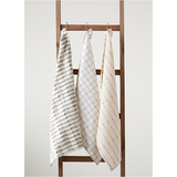 White Grid Cotton Tea Towels