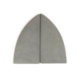 Arched Cement Bookends (Set of 2)