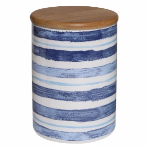 Blue Striped Canister