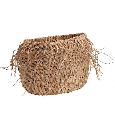 Seagrass Basket with Fringe