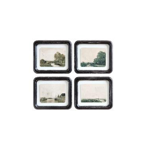 Antique Landscape Framed Wall Decor