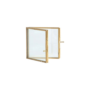 Square Brass & Glass Photo Frame