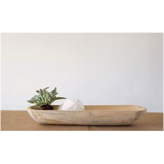 Rectangle Paulownia Wood Bowl