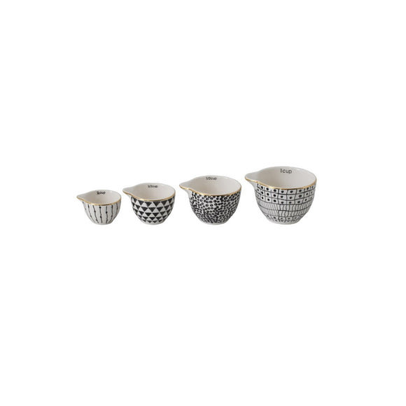 Black Patterned Measuring Cups
