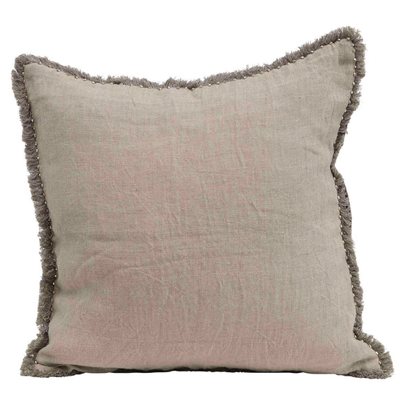 Linen Pillow with Trim