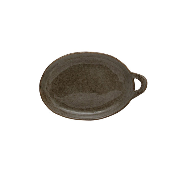 Grey Handled Plate