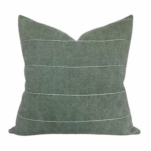 Green Sun-bleached Pillow Cover