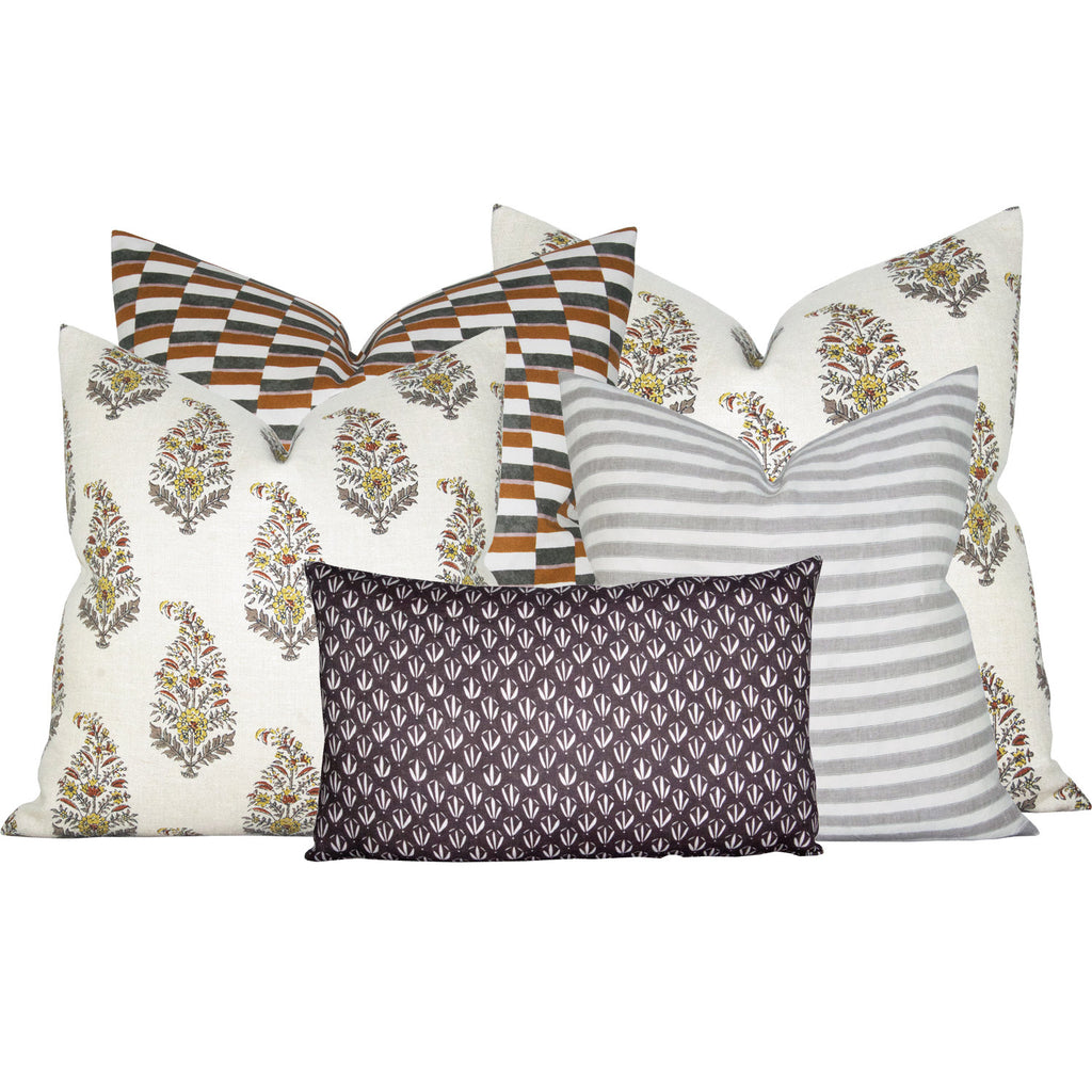 Kiawah Midnight pillow cover