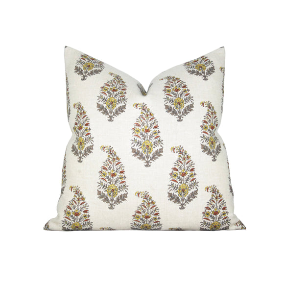 Mughal Gardens Spice Pillow Cover