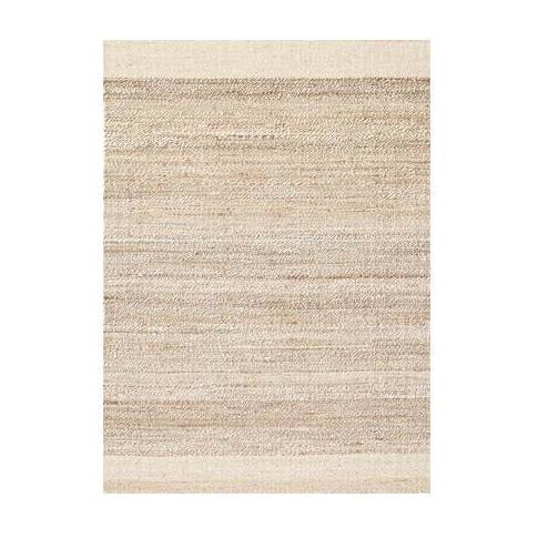 Natural Jute Rug with Cream Edge
