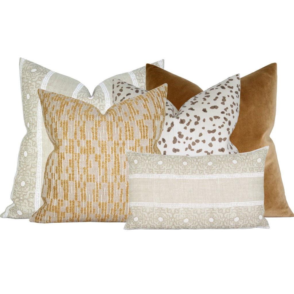 Jaipur Stripe Sand Pillow Cover