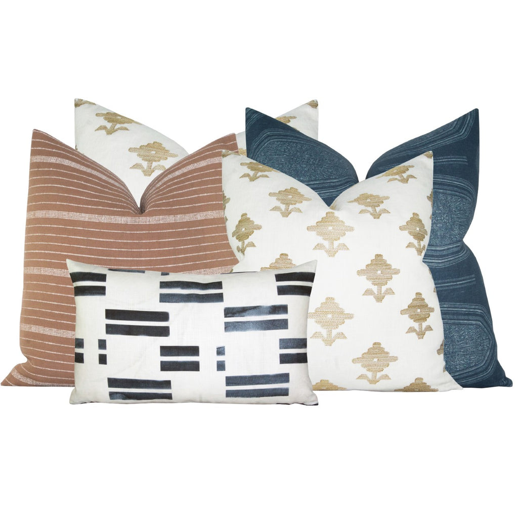 Tessa Navy Stripe Pillow Insert
