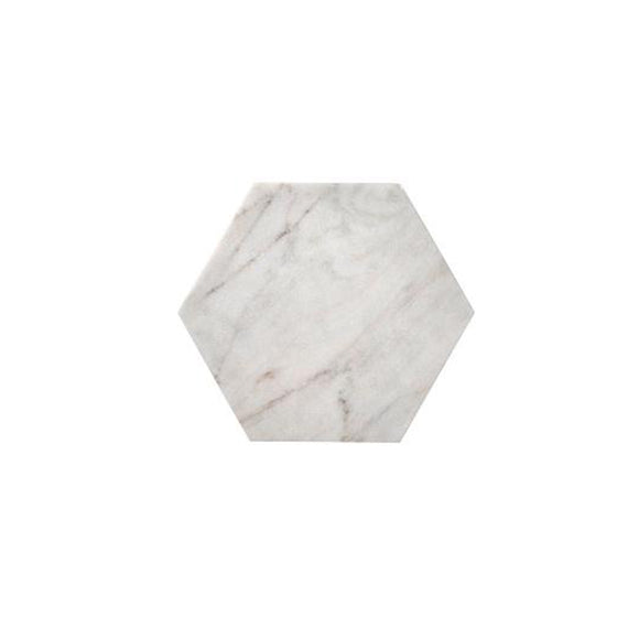 White Marble Hexagon Tray/Cutting Board
