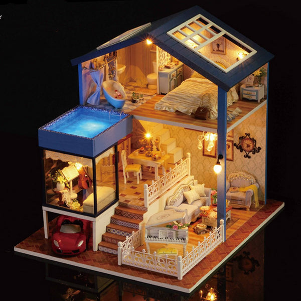 Cottage Doll House DIY Kit With Furniture For Kids