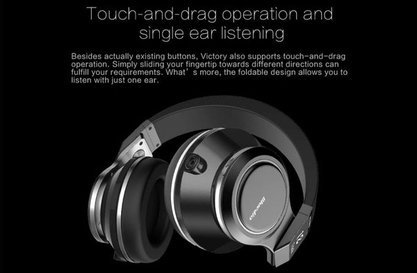 Bluedio V (Victory) 12 Speakers Bluetooth 4.1 Headphones With Mic & Optical Input