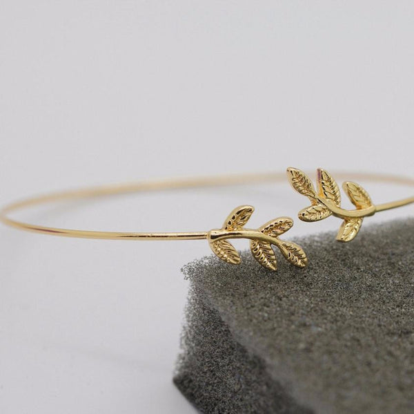 Leaf Shape Bracelet for Women