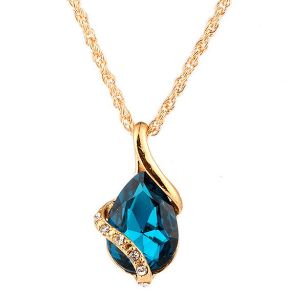 Necklace Water Drop Shape Crystal Jewelry Accessories For Women
