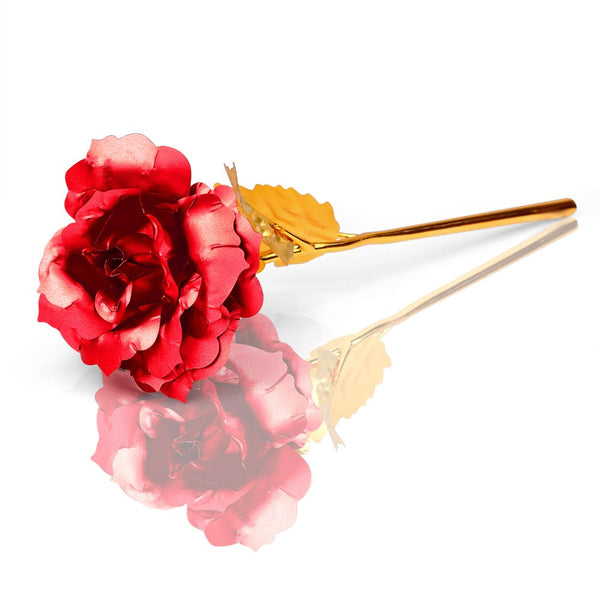Gold Plated Artificial Rose Flower For Gift
