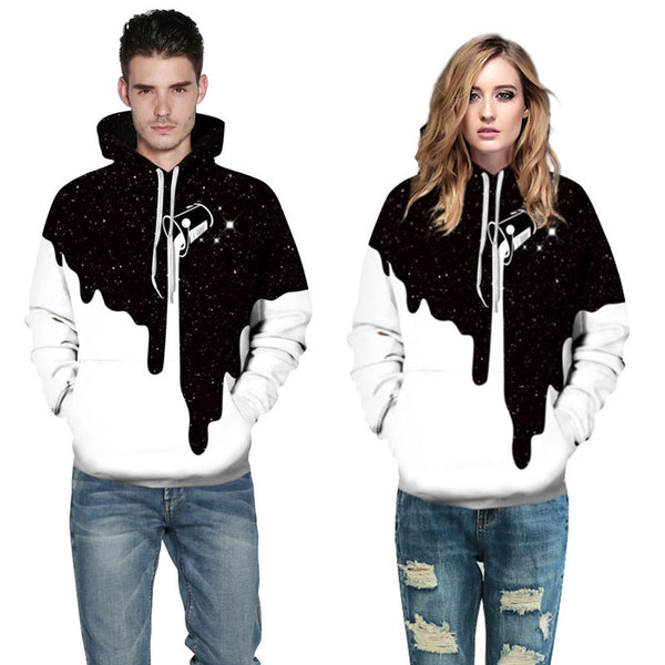3D Hip Hop-Printed Sweatshirts Hoodies