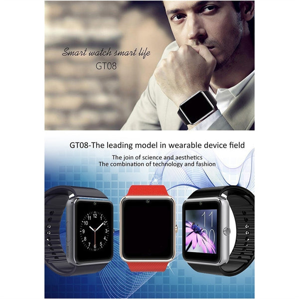 Bluetooth Smart Watch with SIM Card Slot for iPhone/Android Phones