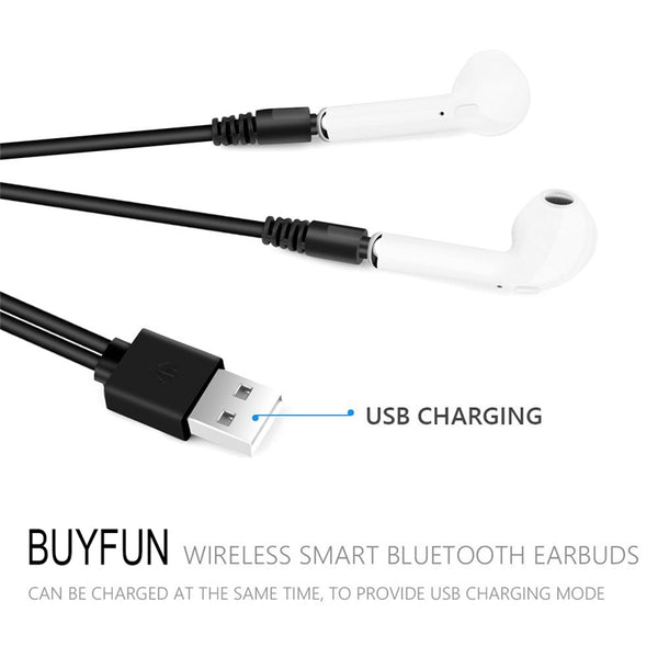 Bluetooth Earbuds Set For Apple iPhone Samsung Sony Android