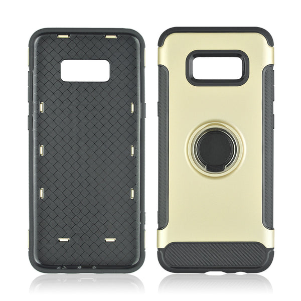 Shockproof Hard Phone Cover With 360 Rotate Ring Holder For Samsung Galaxy S8