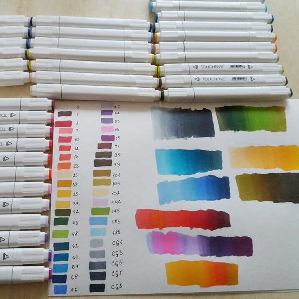 Color Art Markers Sketch Pens With Dual Head