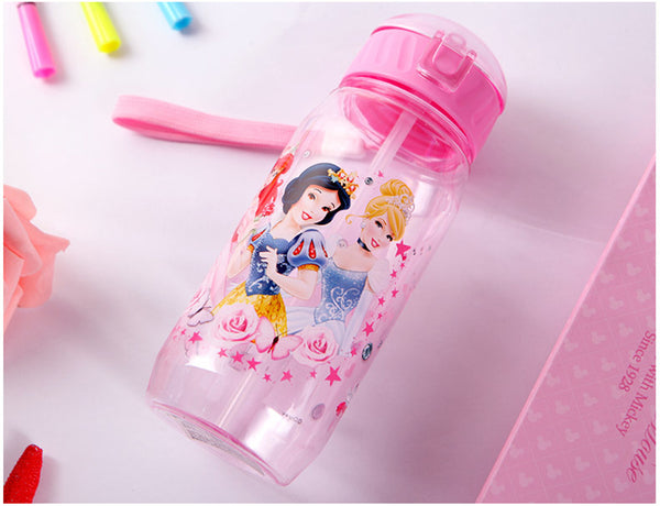 Eco-friendly Kids Drinking Cartoon BPA Free Water Bottles With Straw