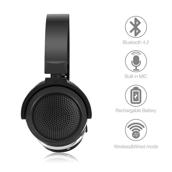 Bluetooth 4.2 Headphone With Mic