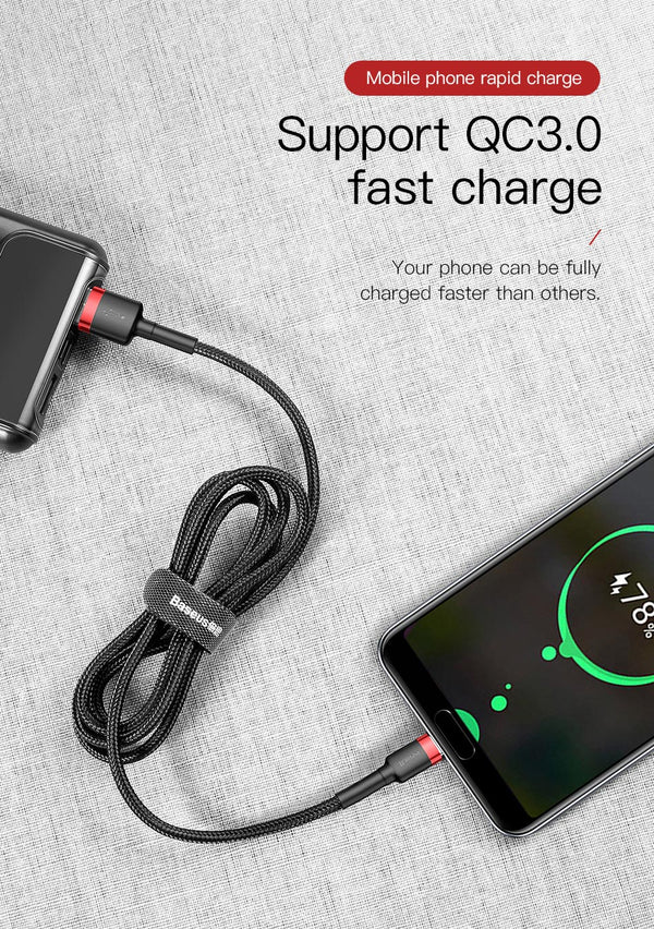 USB Type C 3.0 Cable for Quick Charge For Mobile and Pads