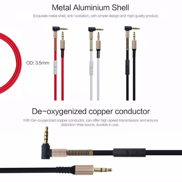 Stereo AUX Cable with MIC - Male To Male