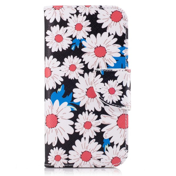 Leather Flip Phone Cover Case for Huawei Y6II Compact & Y6 Elite