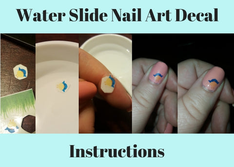 Water Slide Nail Art Decal Instructions with pictures.