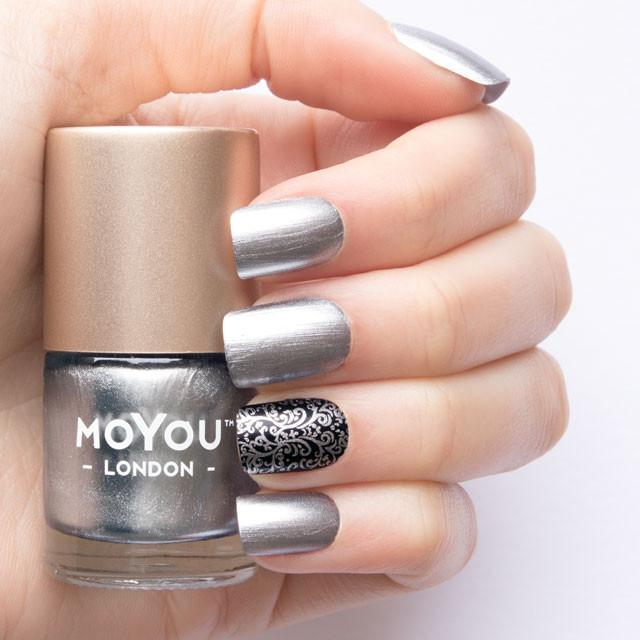 MoYou London- Metallic Stamping Polish- Silver Dust