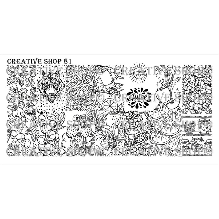 Creative Shop- Stamping Plate- 081