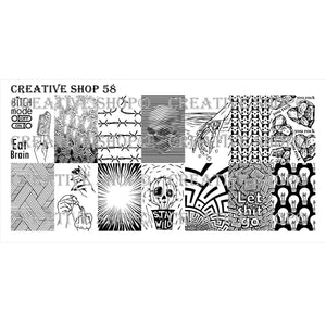 Creative Shop- Stamping Plate- 058
