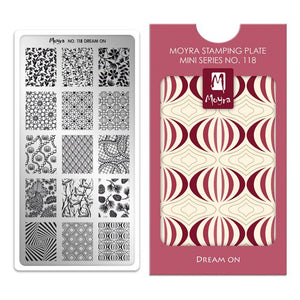 Moyra Mini Stamping Plate 118- Dream On