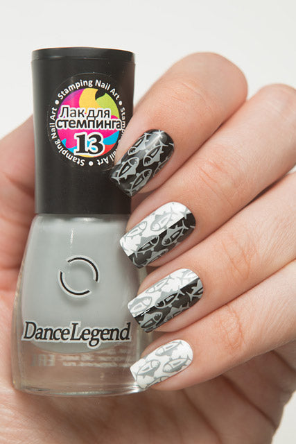 Dance Legend- Stamping Polish- Grey
