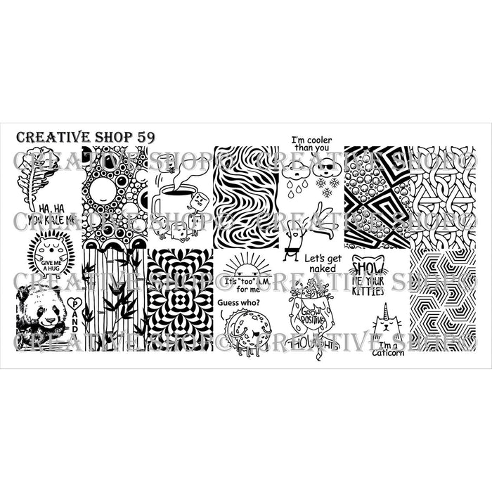Creative Shop- Stamping Plate- 059
