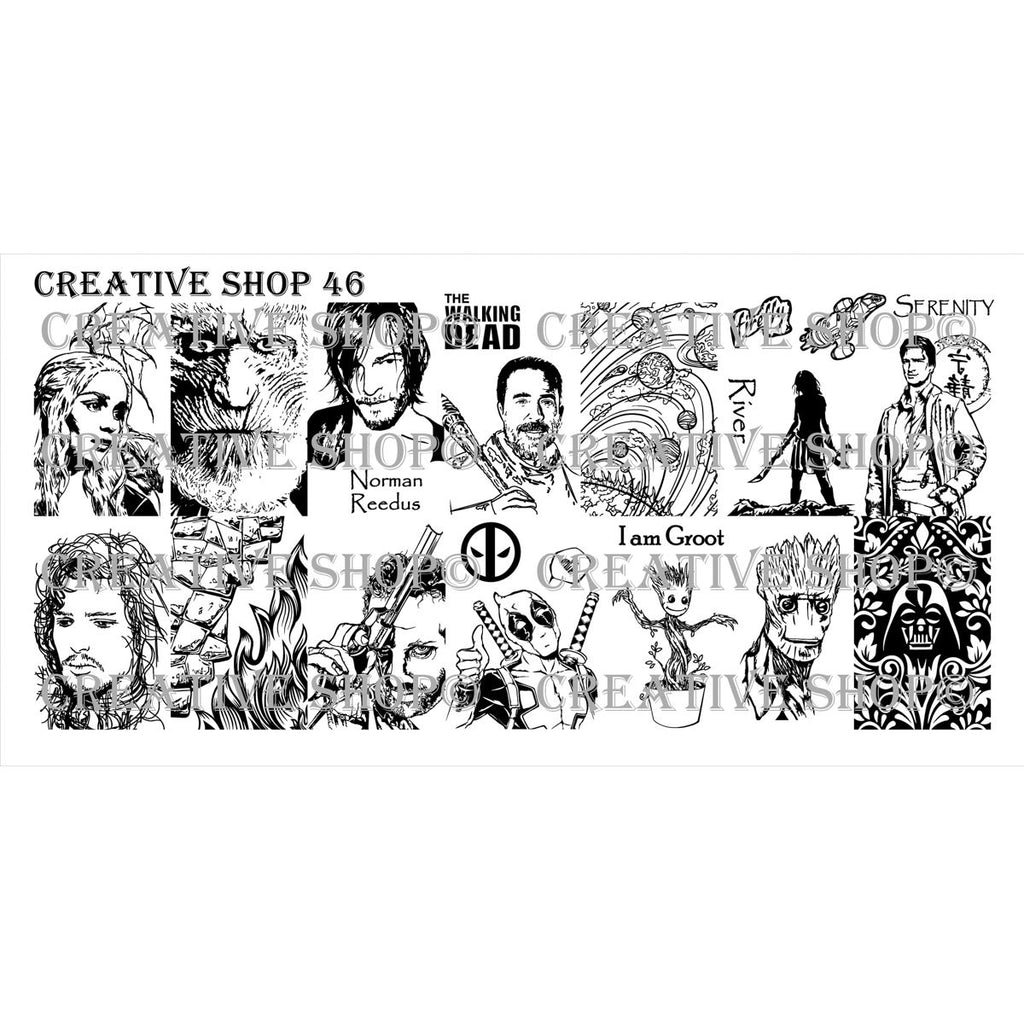 Creative Shop- Stamping Plate- 046