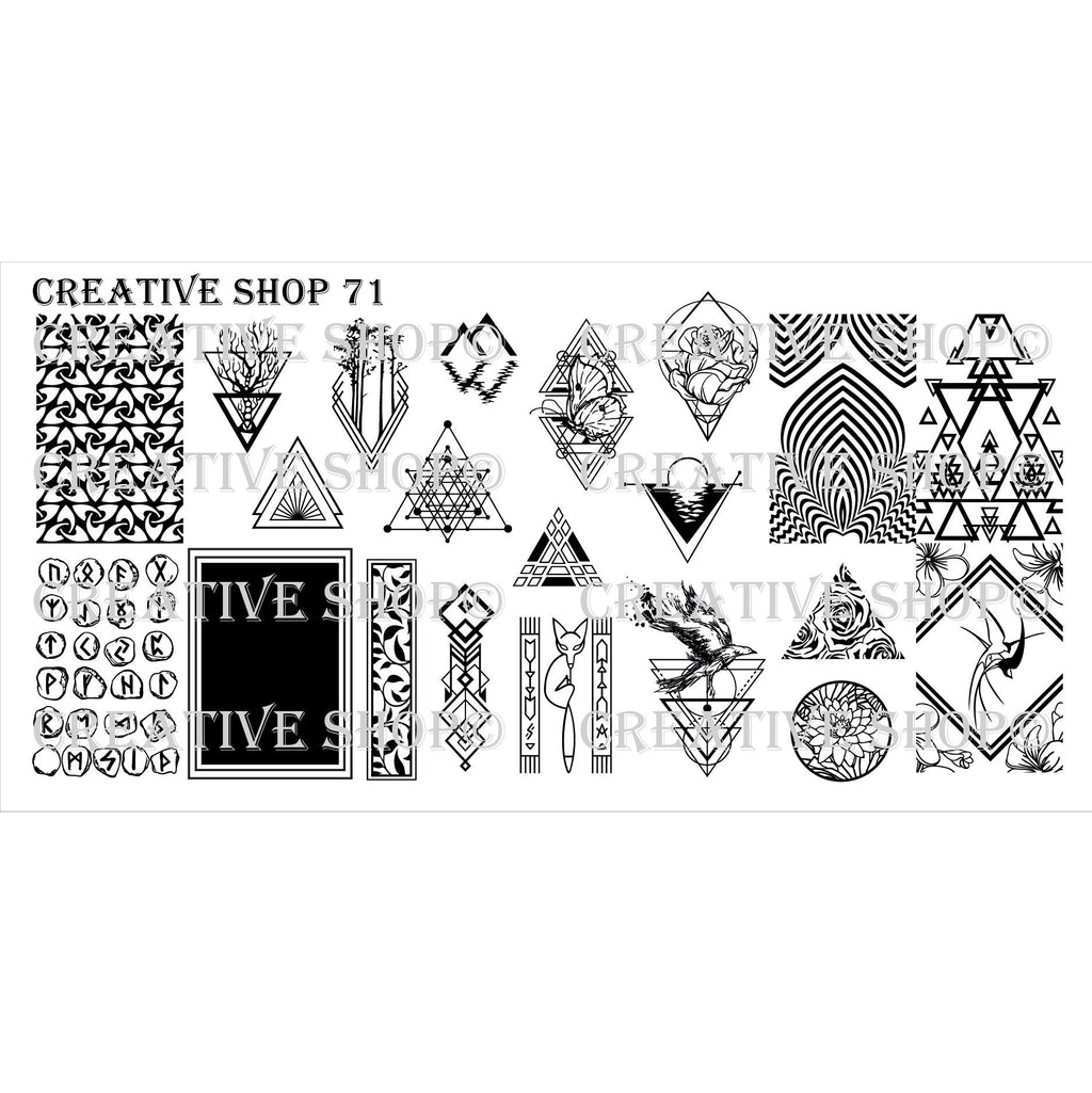 Creative Shop- Stamping Plate- 071